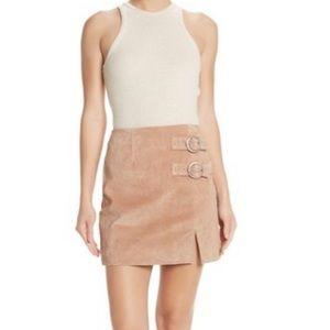 BlanketNYC suede buckle skirt